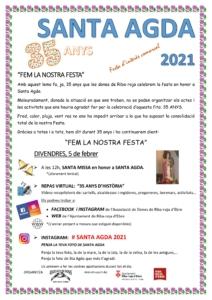 Cartell santa Agda 2021.